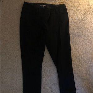 Black Straight Express Pants